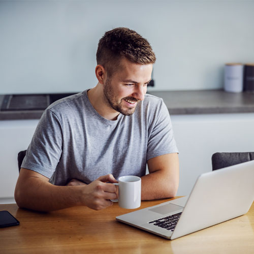 Investor reading newsletter